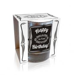 Чаша за уиски с надпис Happy Birthday